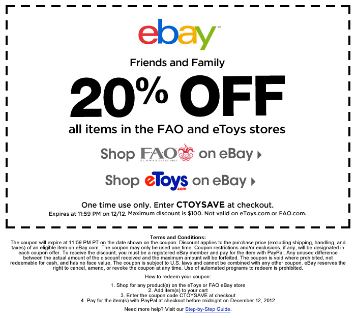 Ebay free shipping coupon code august 2018