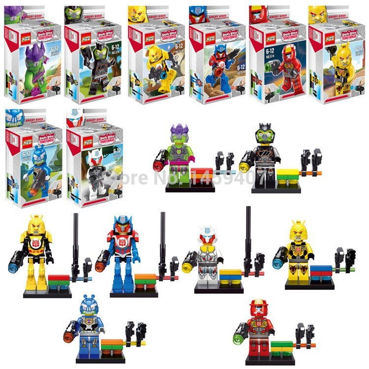 XSZ Angry Birds Transformers Lego-style Mini-Figures