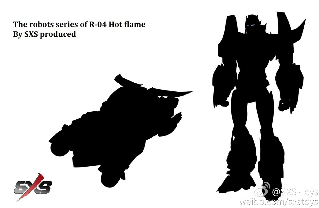 SXS R-04 Transformable IDW Hot Flame Rodimus Prime Robot