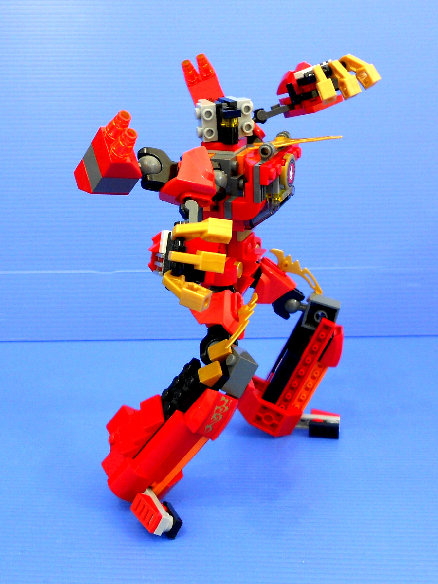 LEGO Kai Rotormech:- alternate design for Ninjago Kai Fire Mech & Creator Red Rotors-c3837.jpg