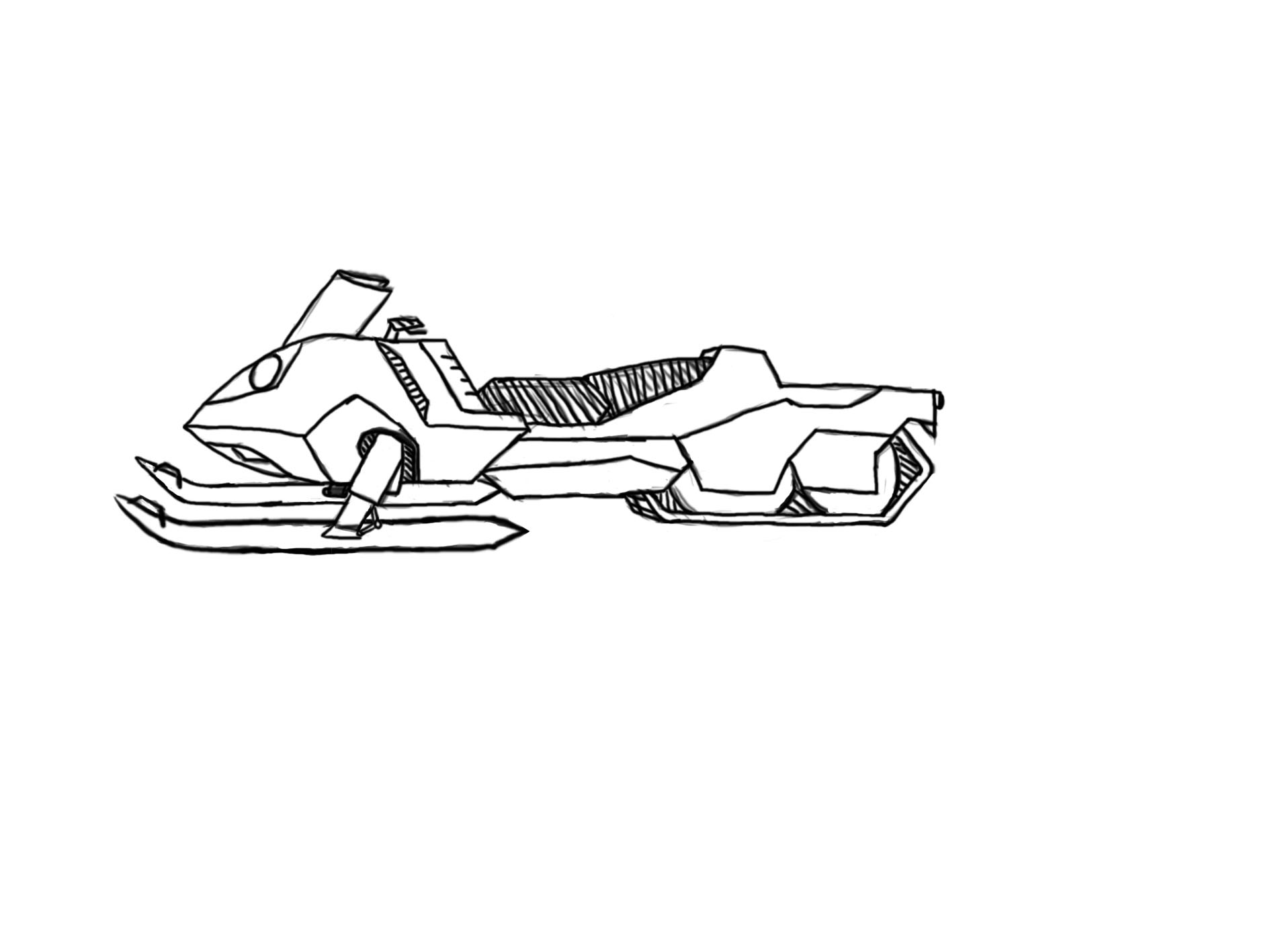 how to draw a skidoo