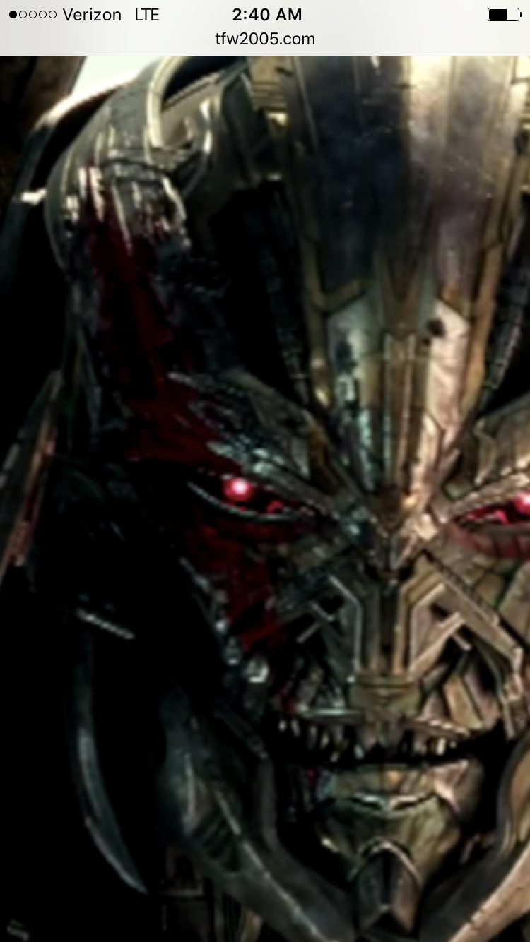 the scar on tf5 megatron tfw2005 the 2005 boards