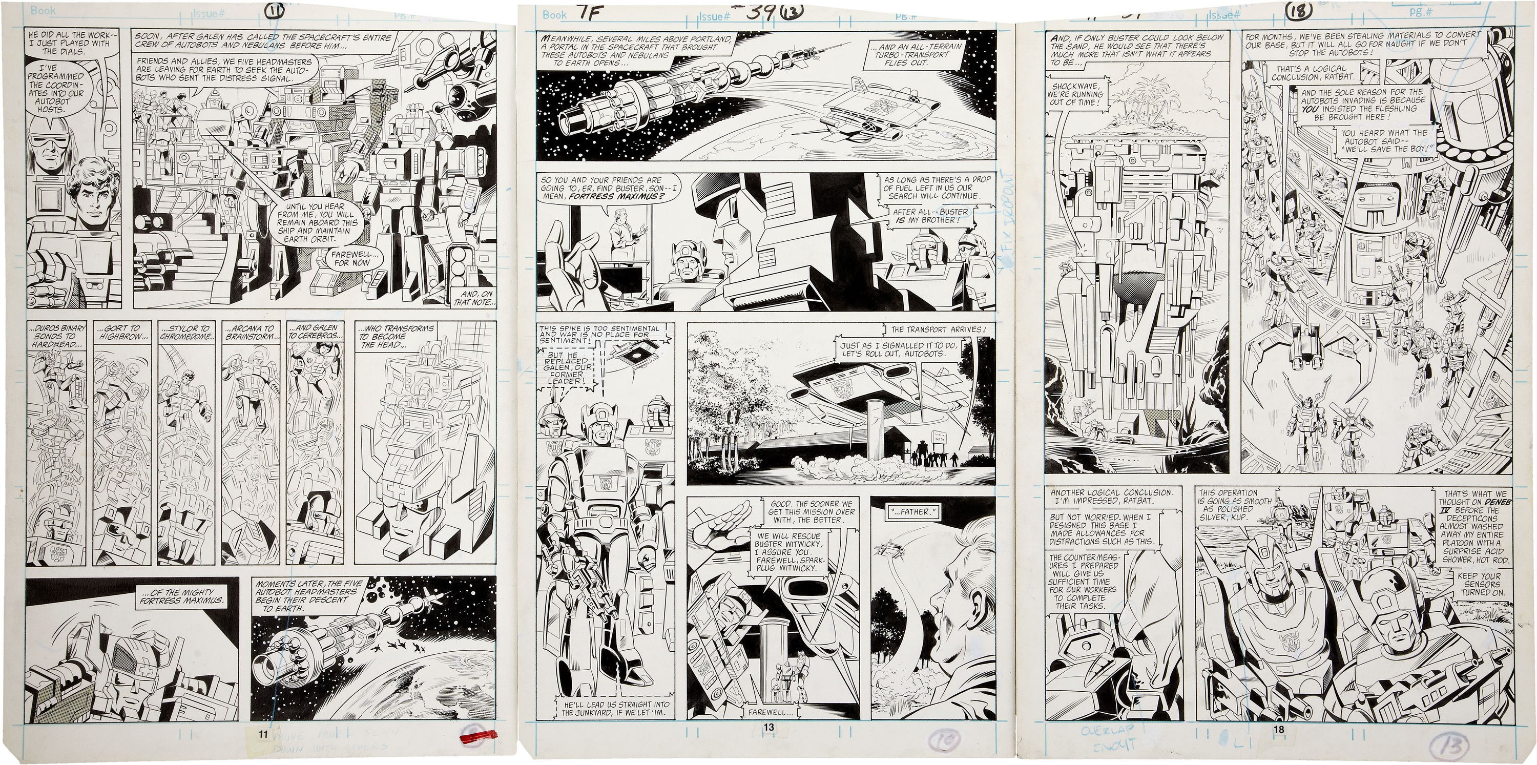 Be Nelson Yomtov! (Colorists, Tackle an Original Transformers Marvel Comics Page!)-jose-20delbo-20transformers-20multiple-20pages-2009.jpg