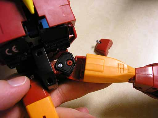 "Masterpiece Rodimus Hip Mod: add 1/4"" height-p8130058.jpg"