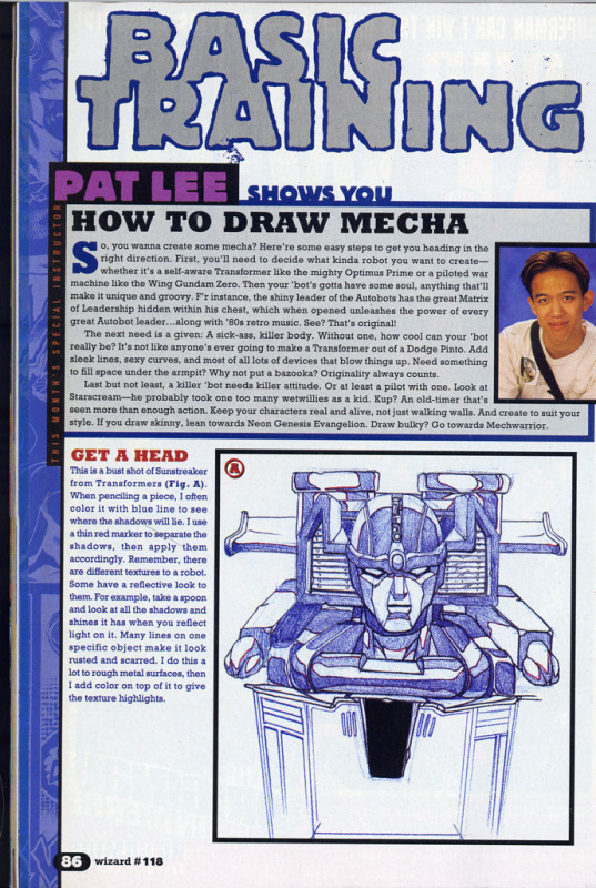 """Wizard #119: """"Basic Training: Pat Lee Shows You How to Draw Mecha""""-page1.jpg"""