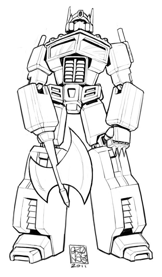 Free Coloring Pages Of Transformers Optimus Prime Optimus Prime Coloring Page