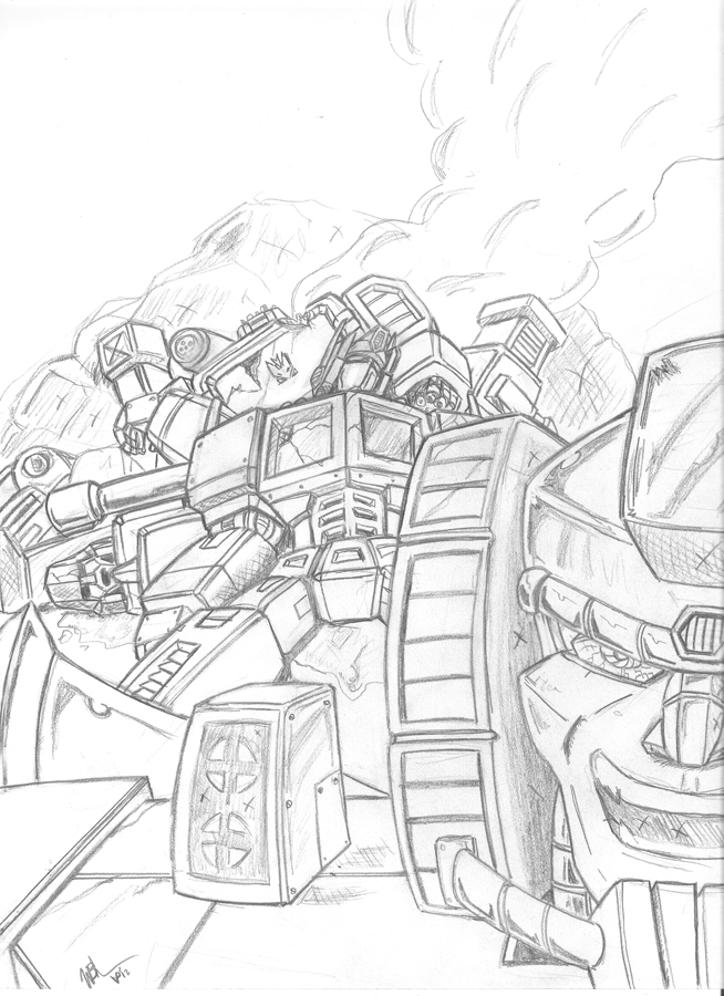 transformers coloring pages grimlock g1-#15