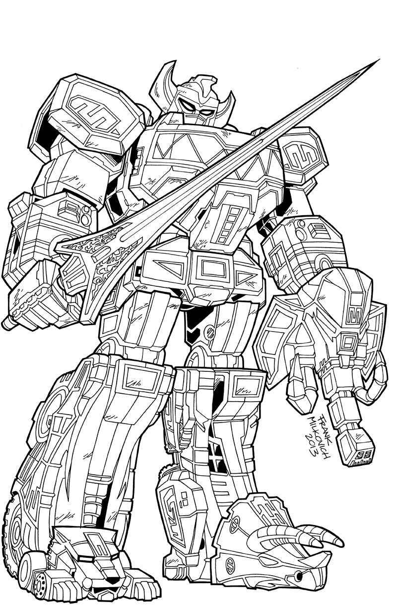 Reprolabels com commission legacy megazord for Power rangers samurai megazord coloring pages