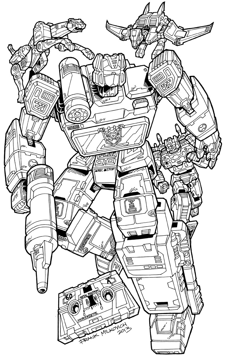 masterpiece coloring pages - transformers coloring pages soundwave coloring page