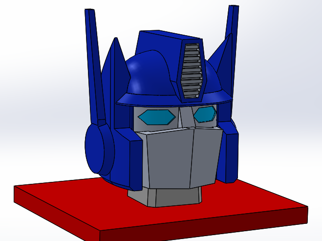 Optimus prime cake head