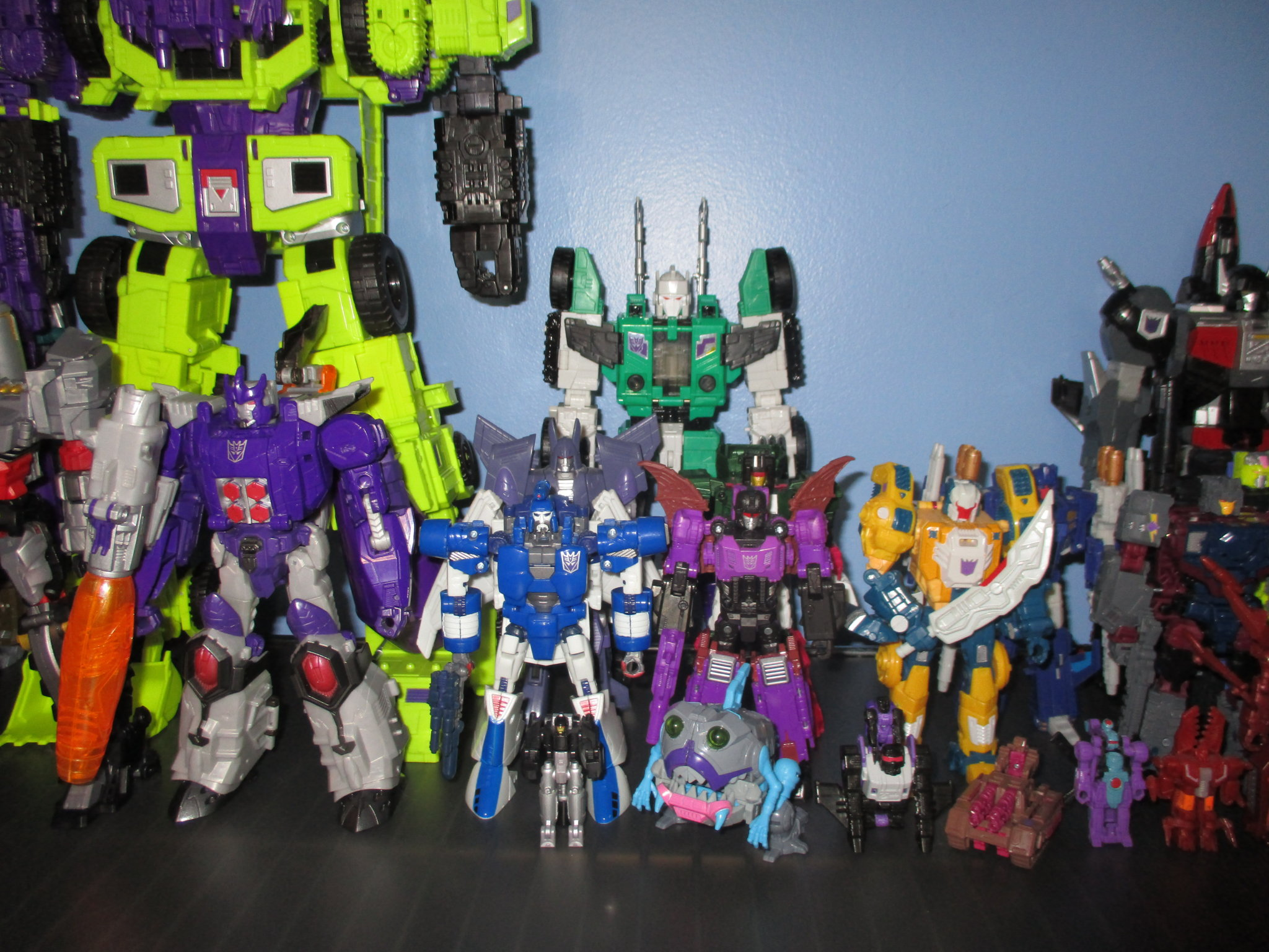 The Kup's Collection - Decepticon Shelf  One - 3.JPG