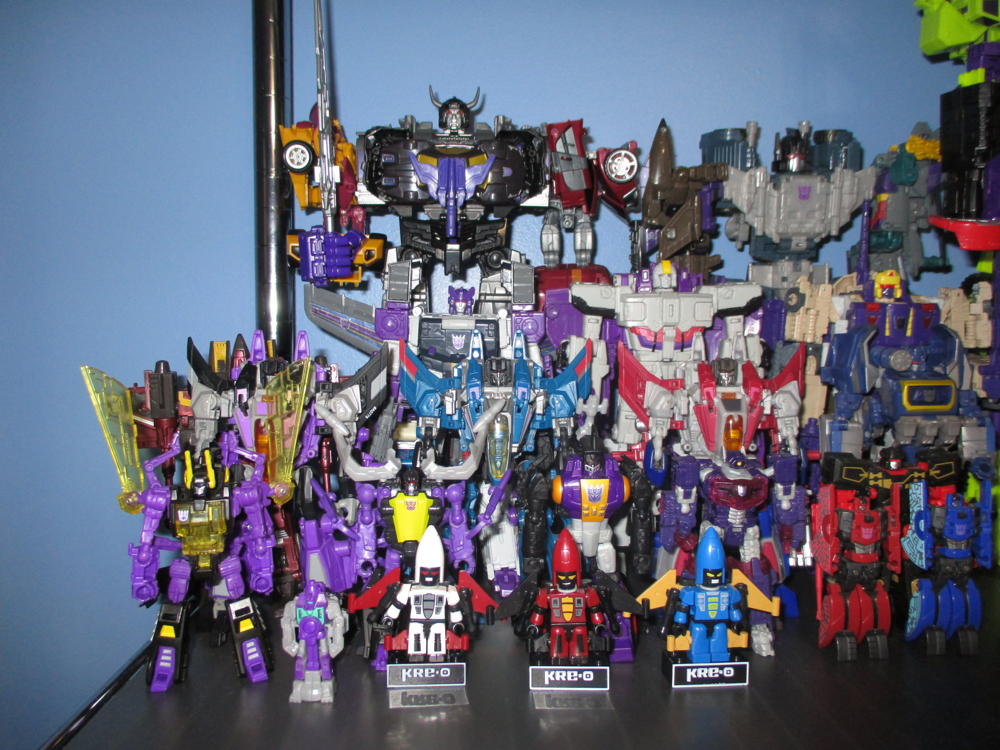 The Kup's Collection - Decepticon Shelf  One - 6.JPG