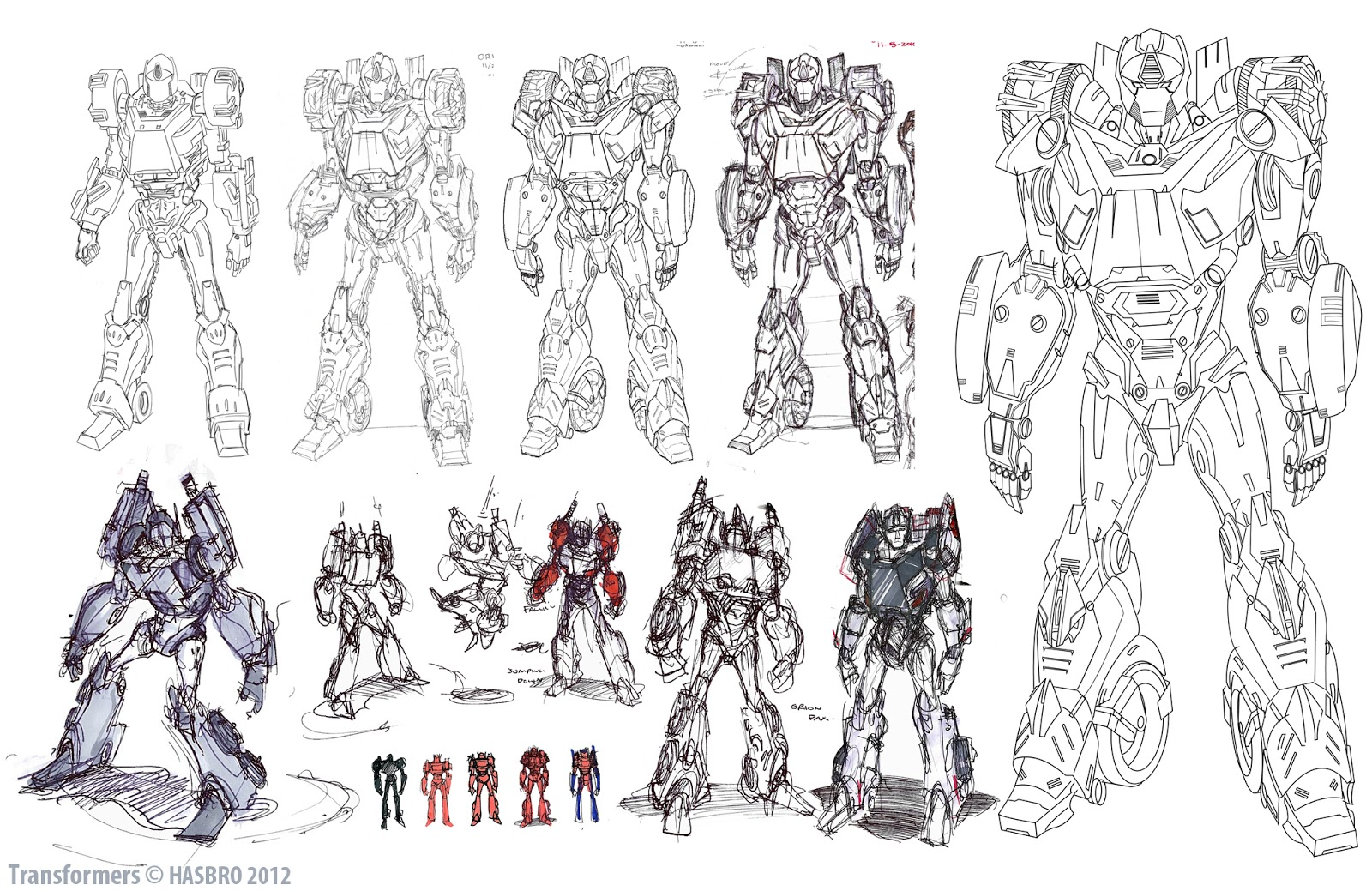 Character Design Concept Sketches : Transformers prime orion pax design tfw
