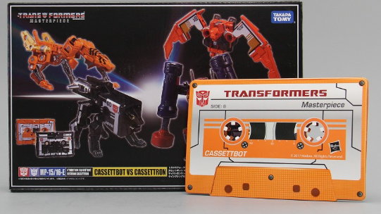 EXCLUSIVE COIN for Transformers Masterpiece MP-15//16-E Cassettbot vs Cassettron